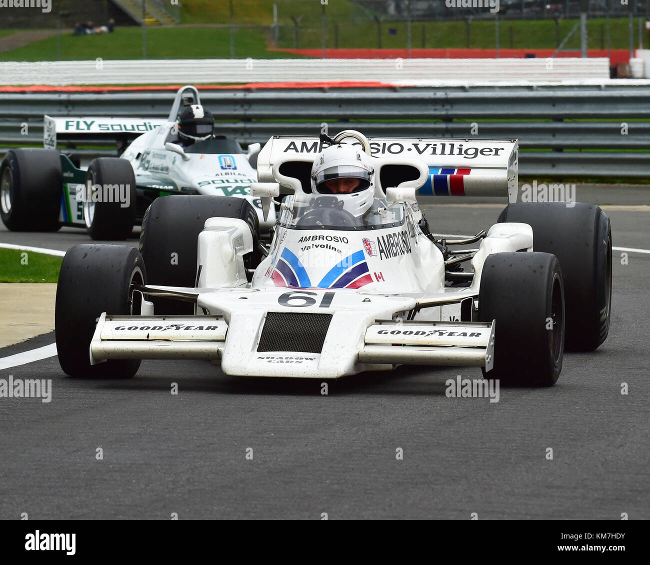 Jason Wright, Shadow DN8, FIA Masters, Historic Formula One, F1, Formula 1, Silverstone Classic, July 2017, Silverstone, - Stock Image