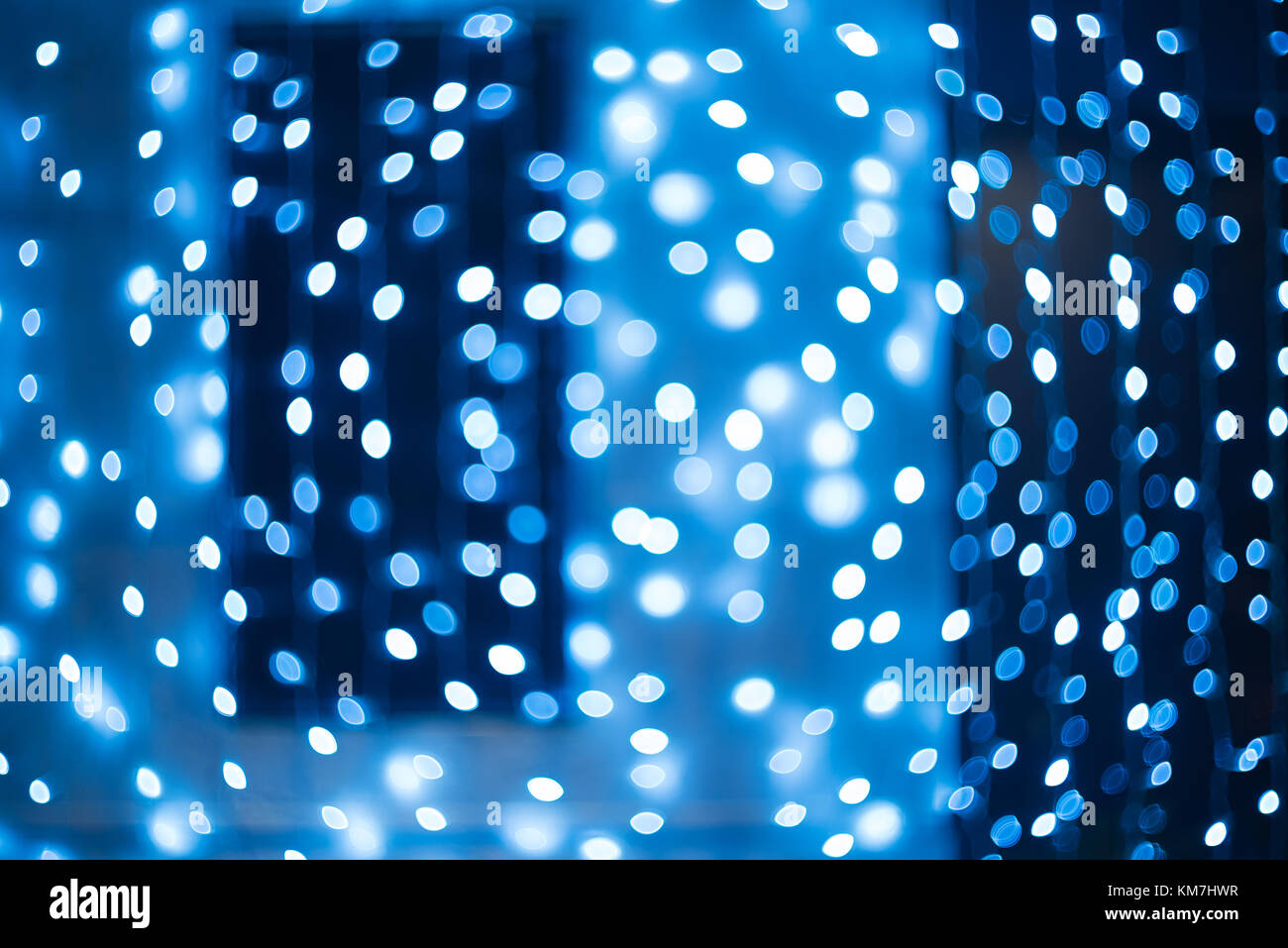 Bokeh. New Year bokeh background. Christmas abstract background with colorful bokeh defocused lights for holiday - Stock Image