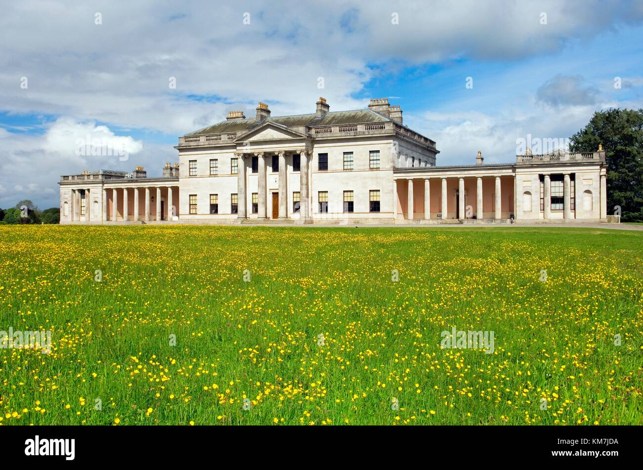 Castle Coole, neo-classical home of the Earls of Belmore. Near Enniskillen, County Fermanagh, N. Ireland - Stock Image