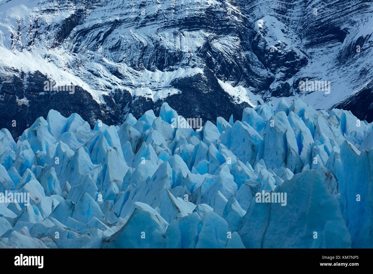 Terminal face of Perito Moreno Glacier, Parque Nacional Los Glaciares (World Heritage Area), Patagonia, Argentina, - Stock Image
