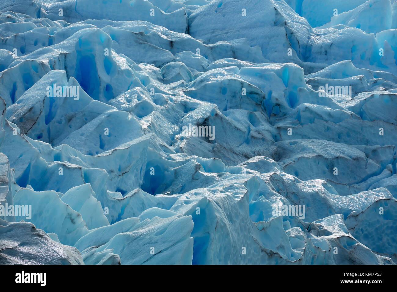 Perito Moreno Glacier, Parque Nacional Los Glaciares (World Heritage Area), Patagonia, Argentina, South America - Stock Image