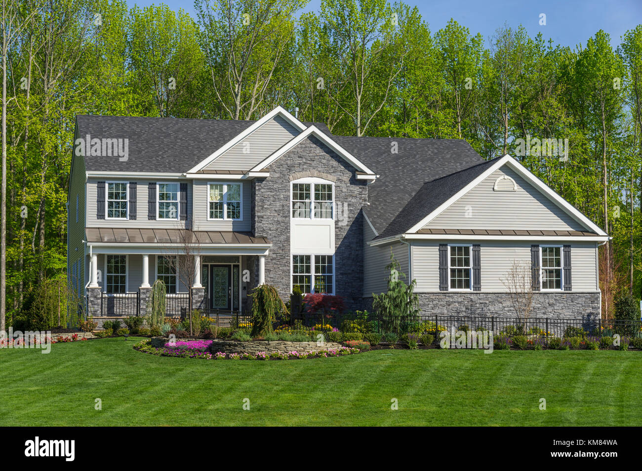 Exterior Of Suburban Home, New Jersey, USA - Stock Image