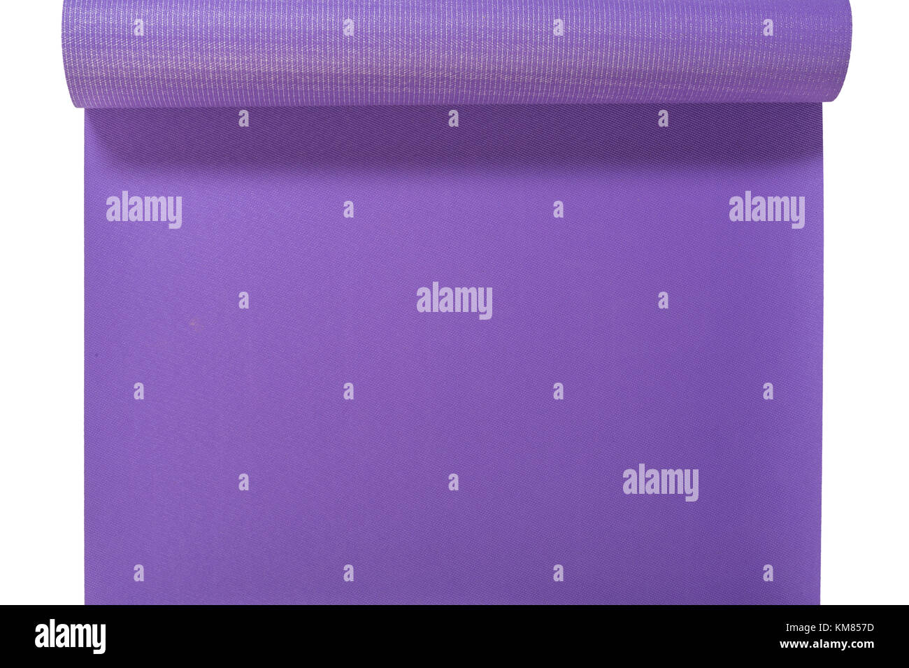 An Overhead View Of A Purple Yoga Mat