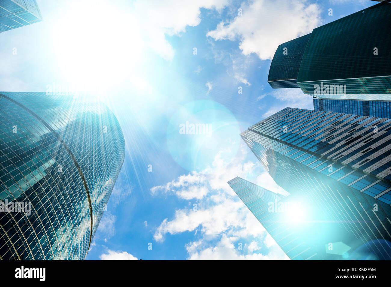 cityscape sunbeam building skyscraper stock photos cityscape