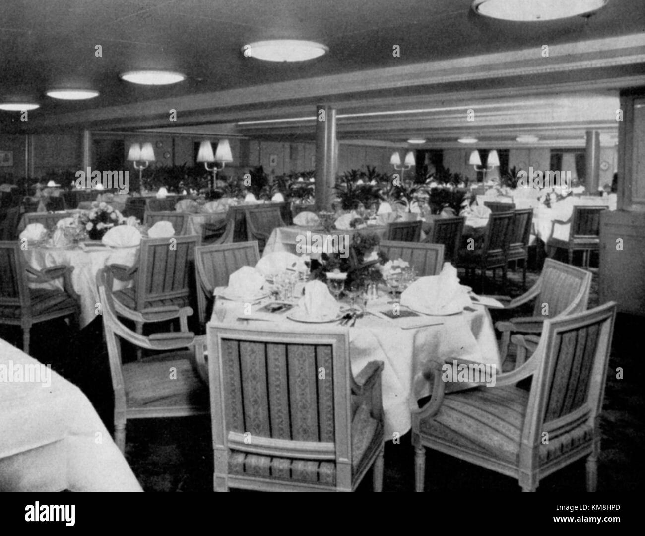 MS Kungsholm 1953 matsal - Stock Image