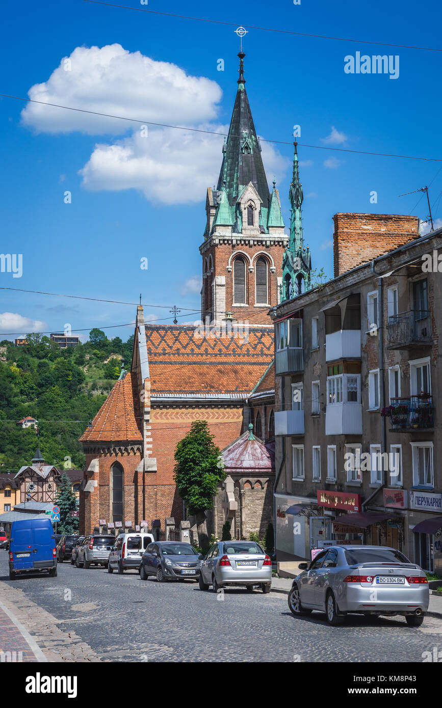 Roman Catholic Saint Stanislaus Church in Chortkiv city in Ternopil Oblast of western Ukraine - Stock Image