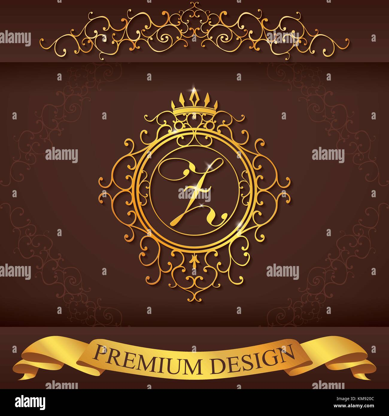 Letter Z. Luxury Logo Template Flourishes Calligraphic Elegant Ornament  Lines. Business Sign, Identity For Restaurant, Royalty, Boutique, Hotel,  Heral