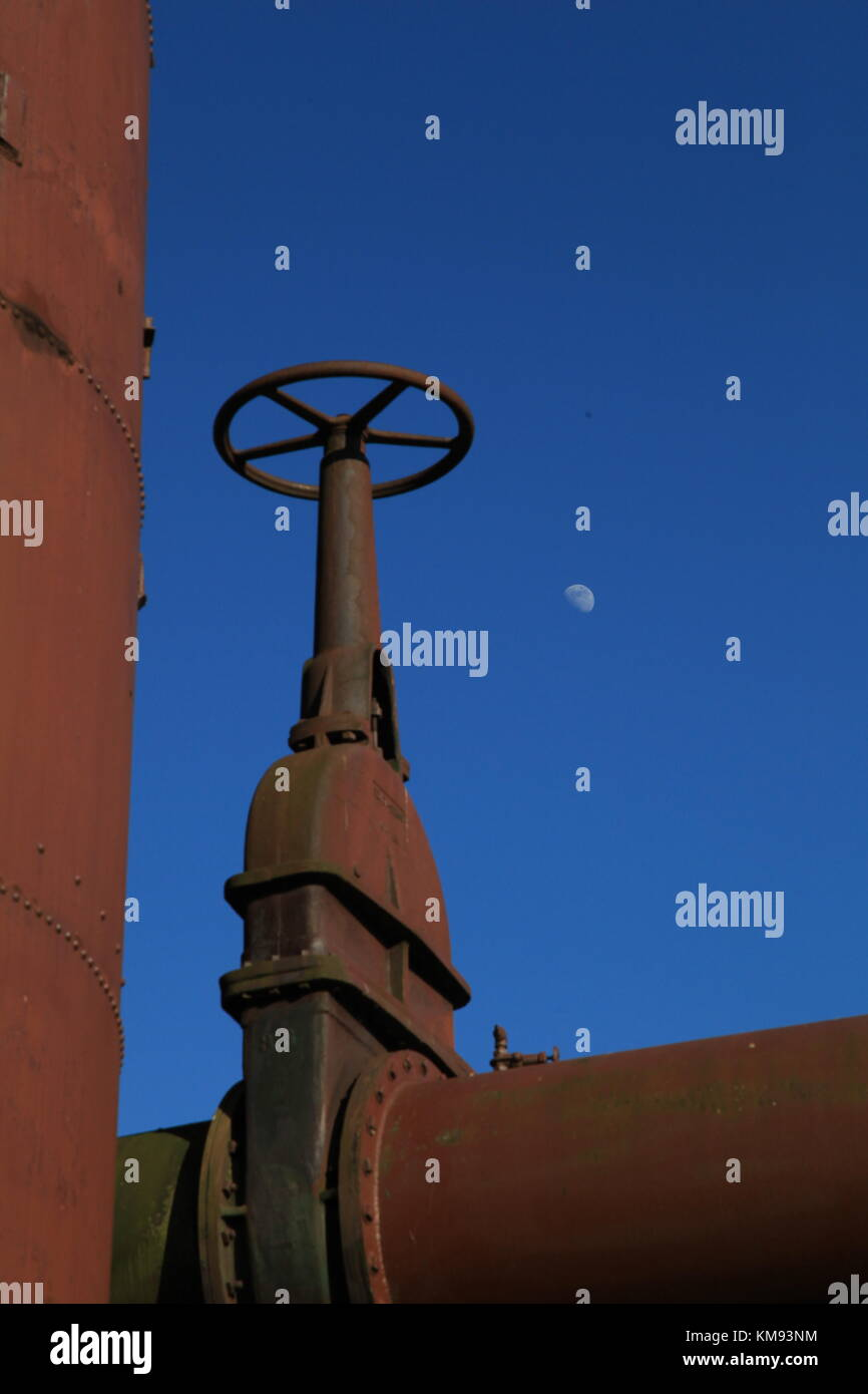 Moon and Valve - Stock Image
