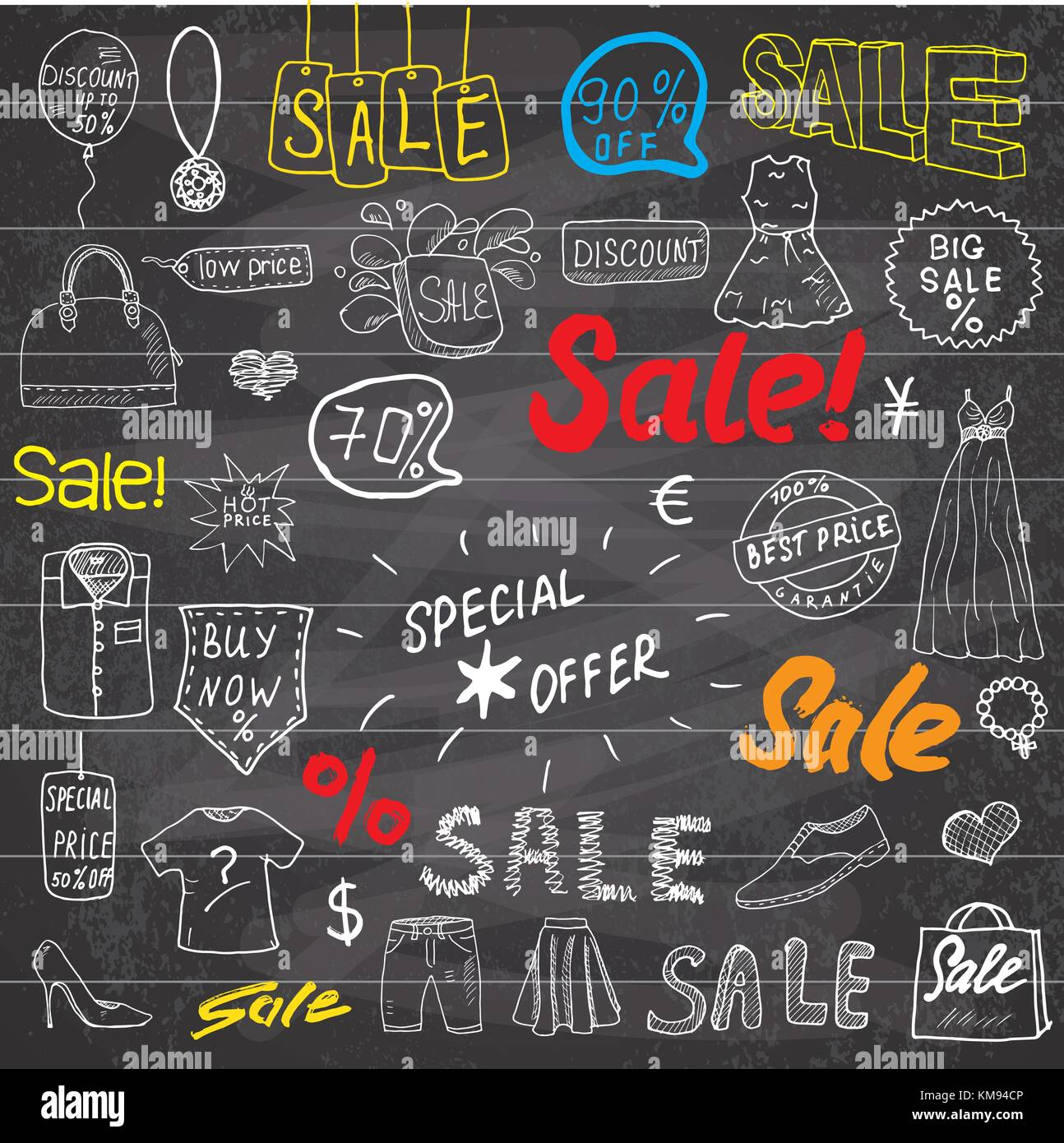 Sale Signs And Price Discount Tags Shopping Associated Symbols