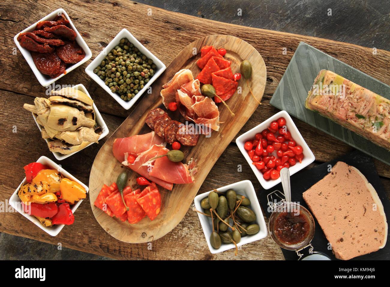 Antipasti Antipasto Antipasta Platter Stock Photo Alamy