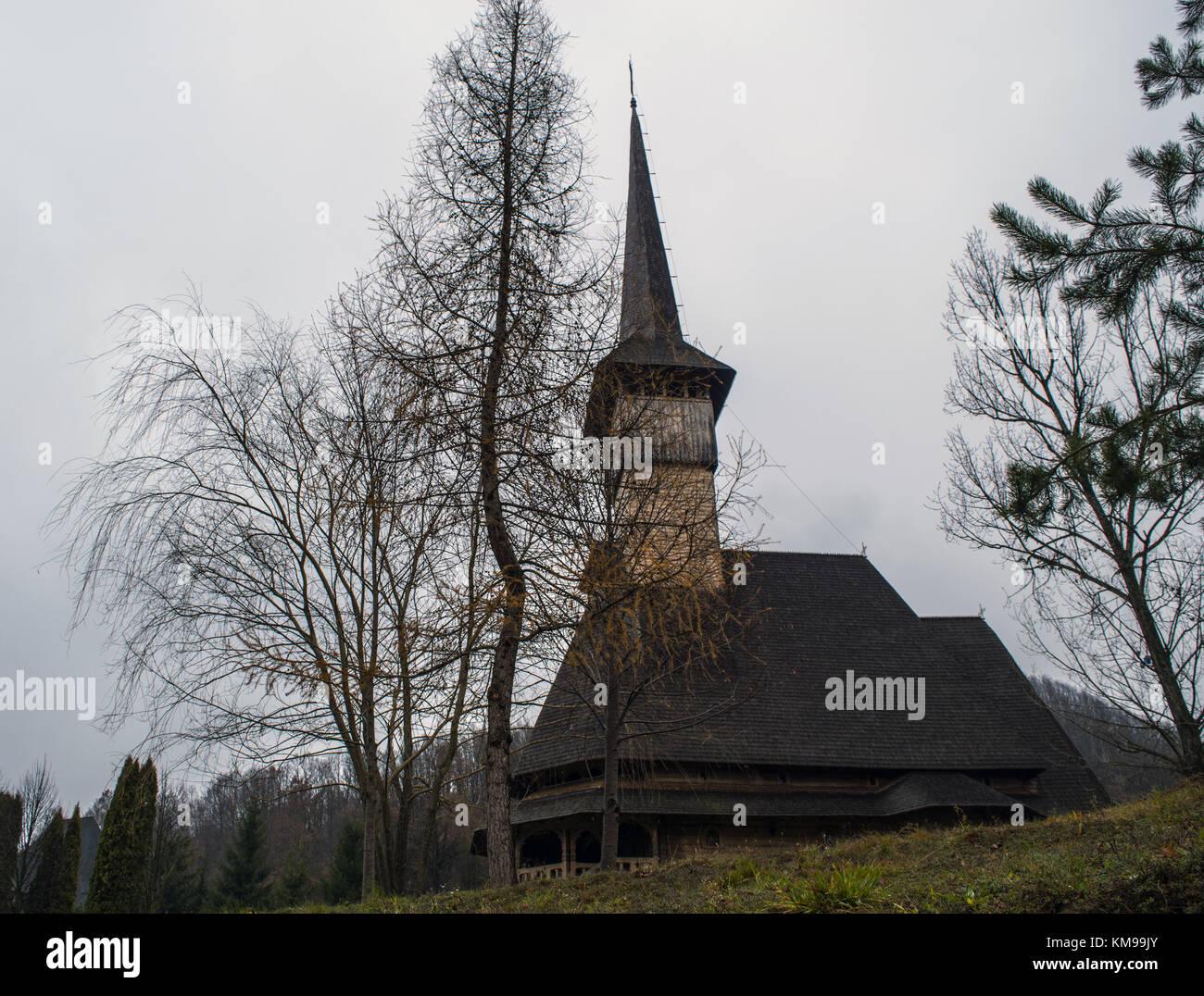 Wooden Monastery of Barsana - Stock Image