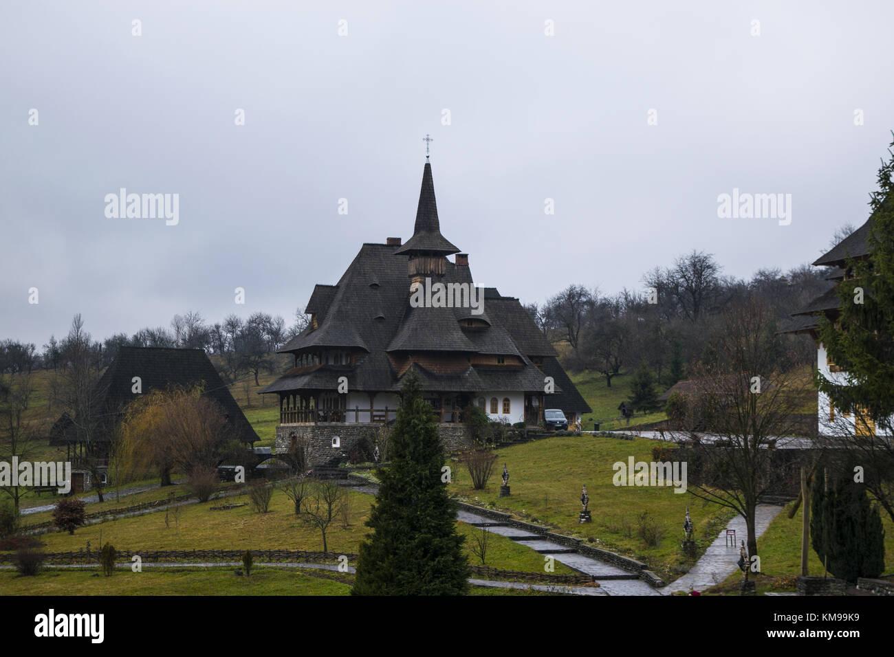 Voivode house, Barsana Monastery - Stock Image