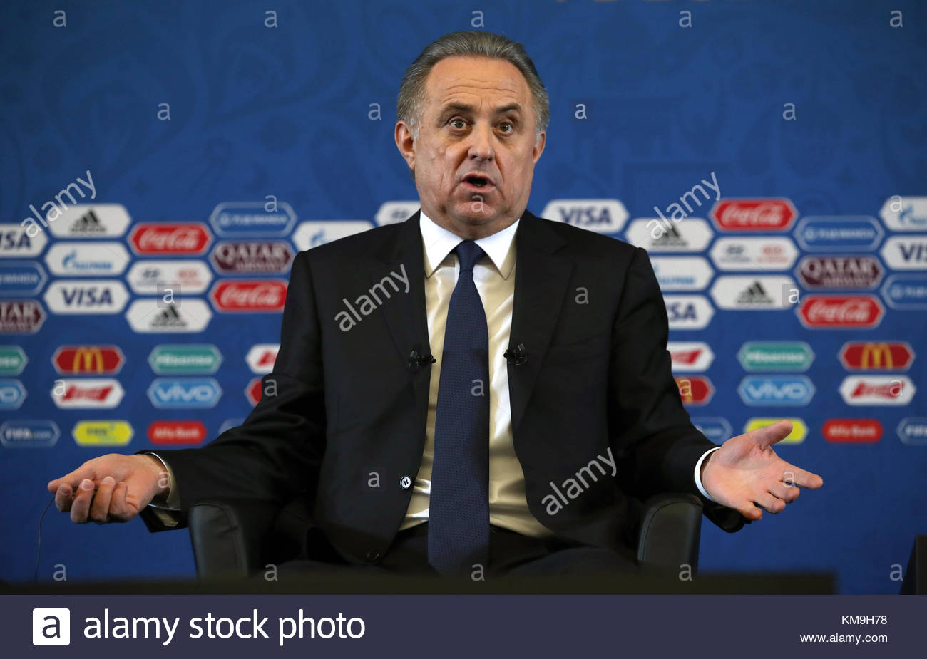 File photo dated 01-12-2017 of Vitaly Mutko, president of the Russian Football Union - Stock Image