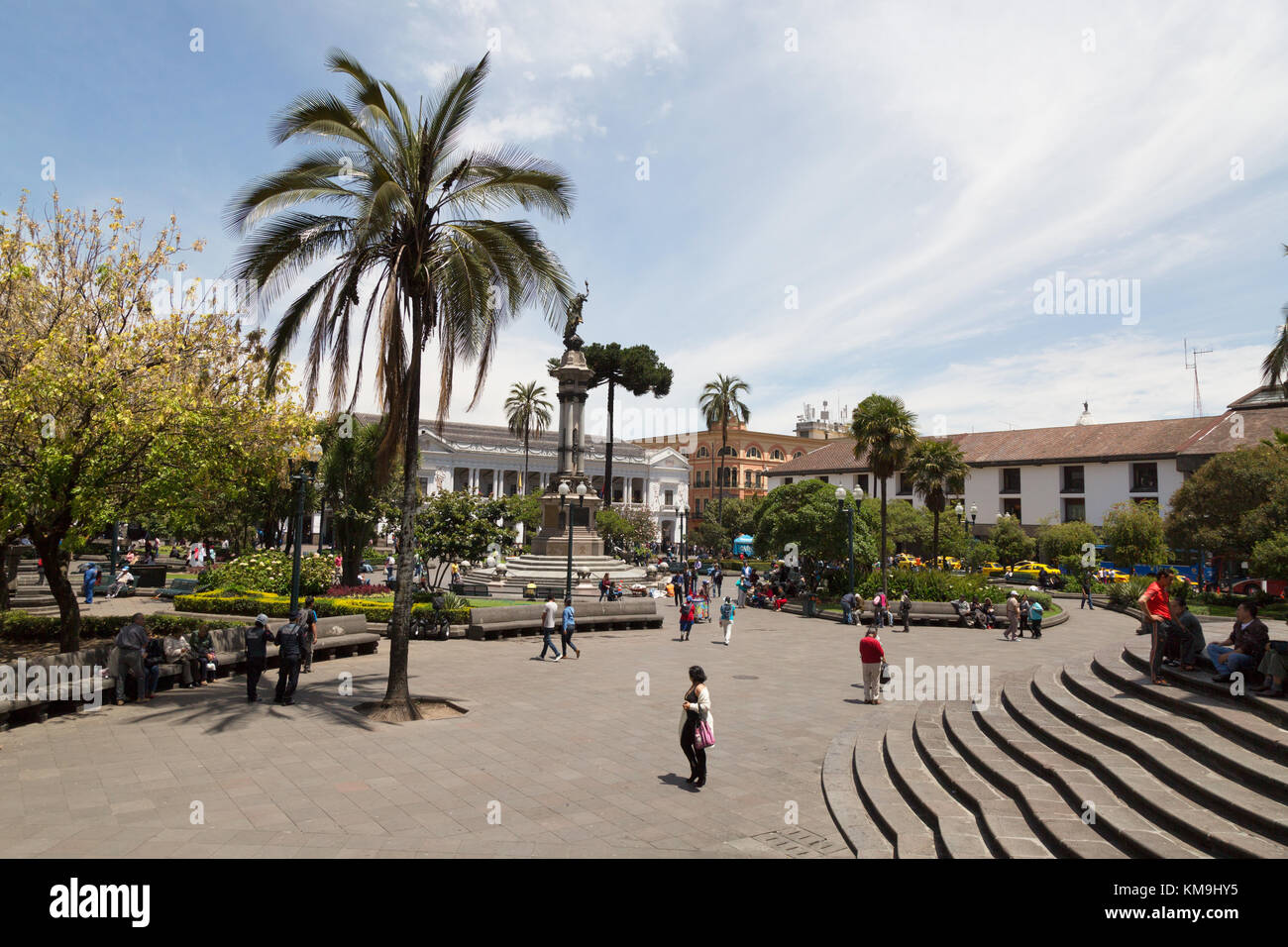 Plaza Grande or Independence Square, Quito, Ecuador, South America - Stock Image