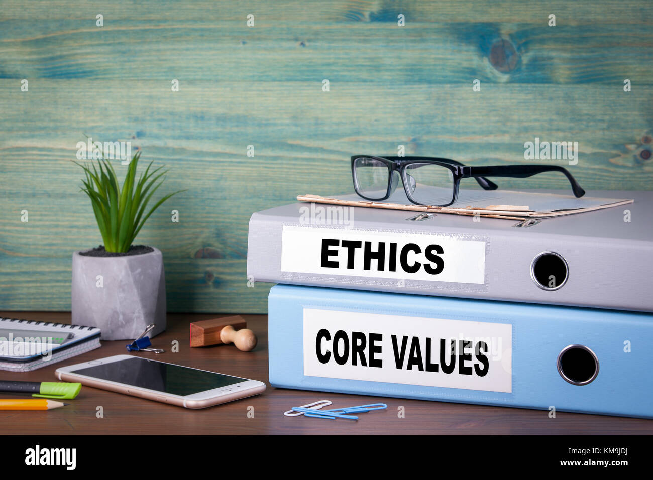 core values and ethics. Successful business and career background - Stock Image