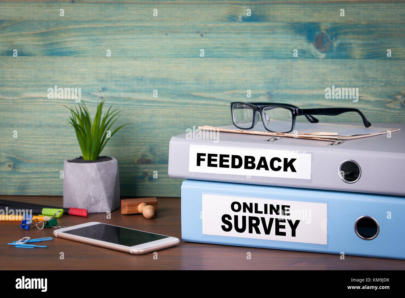 online survey and feedback. Successful business, advertising and social networking information - Stock Image