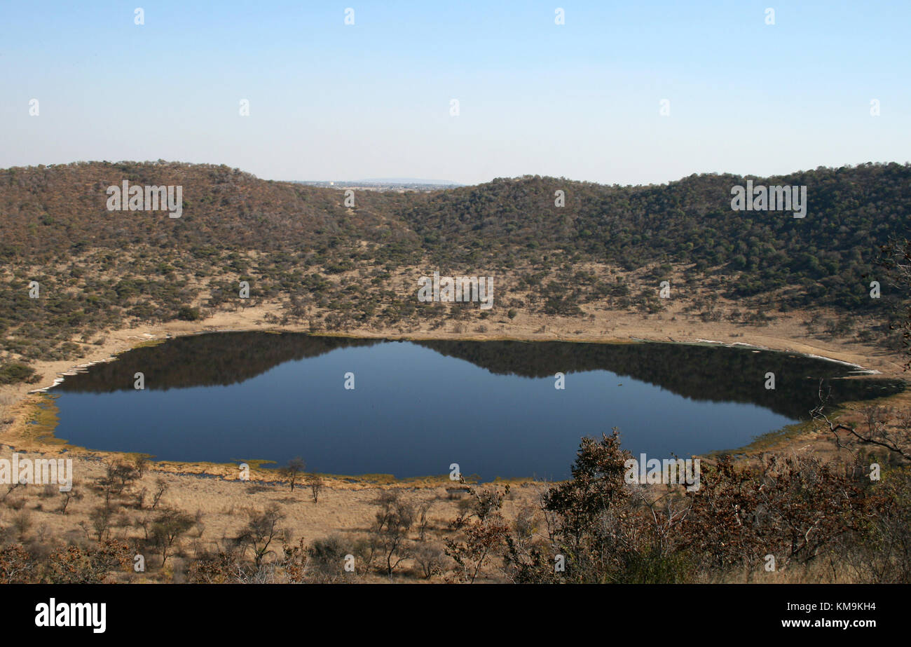 Tswaing Crater, Pretoria, South Africa - Stock Image