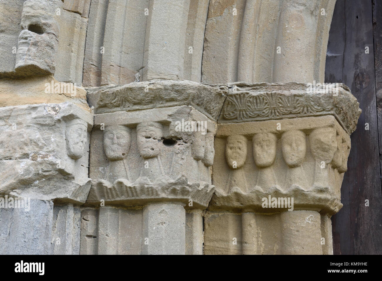 Gothic Capitals Church Of Santa Maria De Lillet In La Poble Bergueda