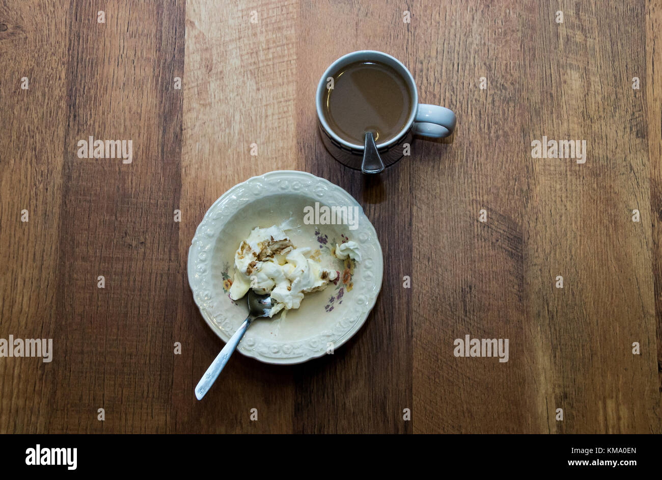 Coffee with a dessert - Stock Image