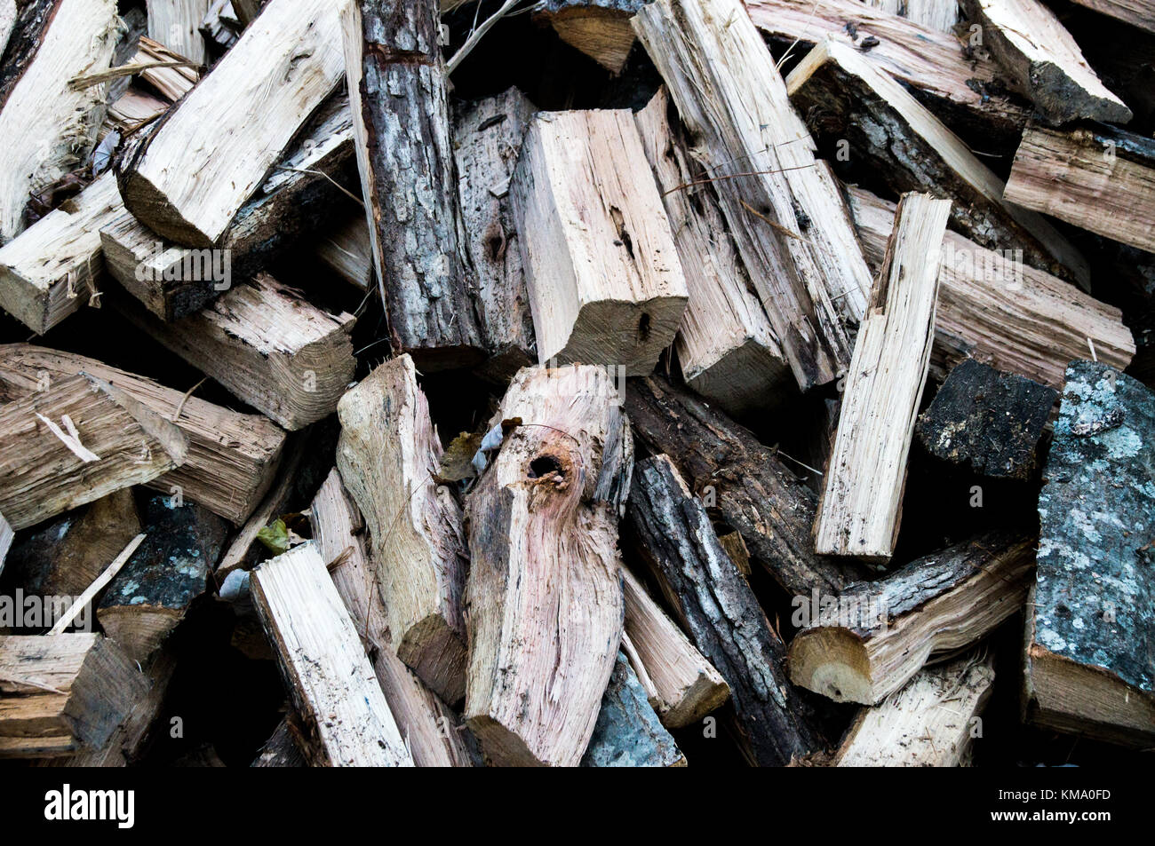 Pile of fire wood - Stock Image