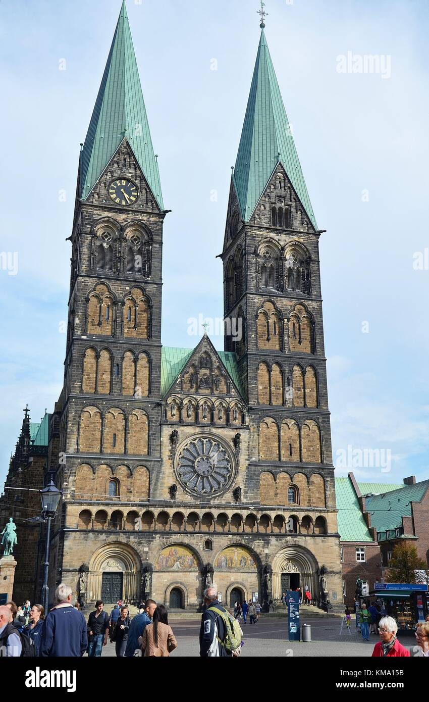 Bremen (Germany): The Cathedral of St. Petri Stock Photo