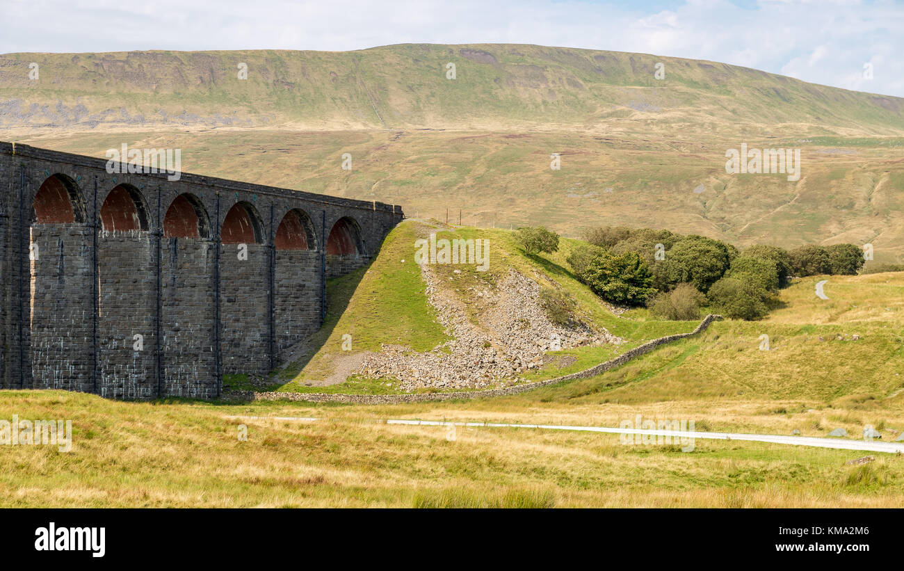 Ribblehead Viaduct, near Ingleton, Yorkshire Dales, North Yorkshire, UK - Stock Image