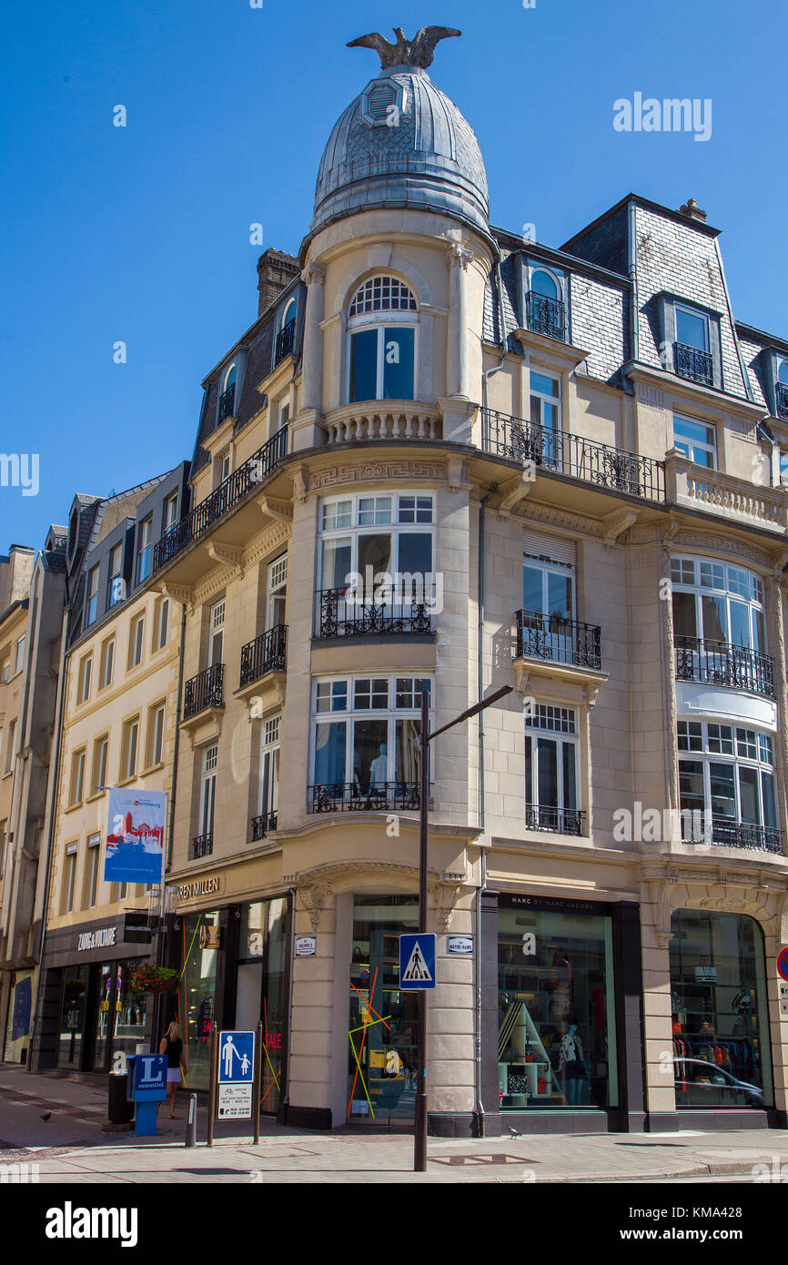 Typical house at the city, Luxembourg-city, Luxembourg, Europe - Stock Image