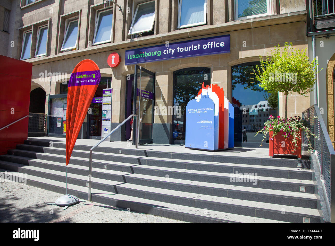 Tourist office, Place Guillaume II square, Luxembourg-city, Luxembourg, Europe - Stock Image