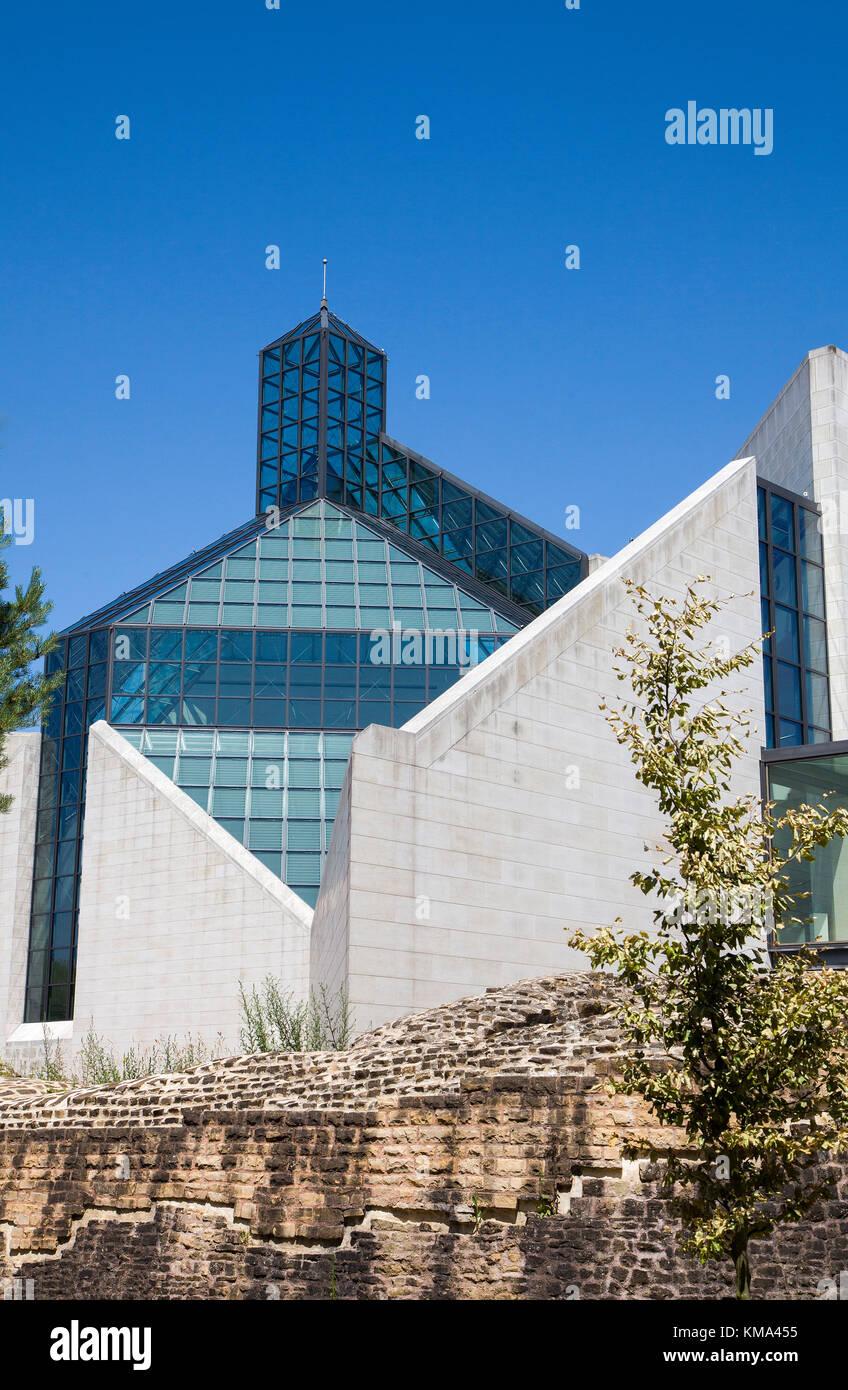 Museum of modern art, Kirchberg, Luxembourg-city, Luxembourg, Europe - Stock Image
