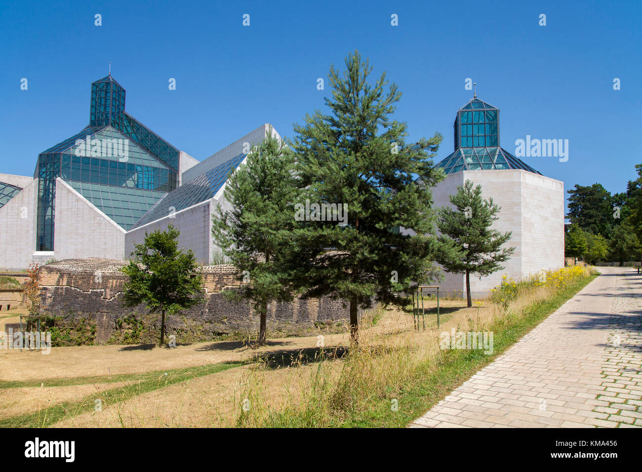 Museum of modern art, Kirchberg, Luxembourg-city, Luxembourg, Europe Stock Photo