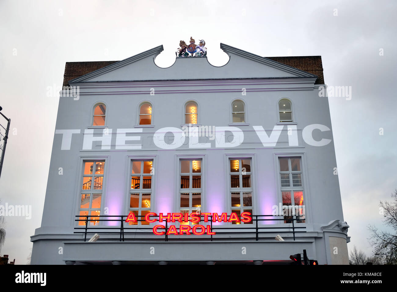 The Old Vic  showing Christmas Carol with Rhys Ifans     picture by Gavin Rodgers/ Pixel8000 - Stock Image