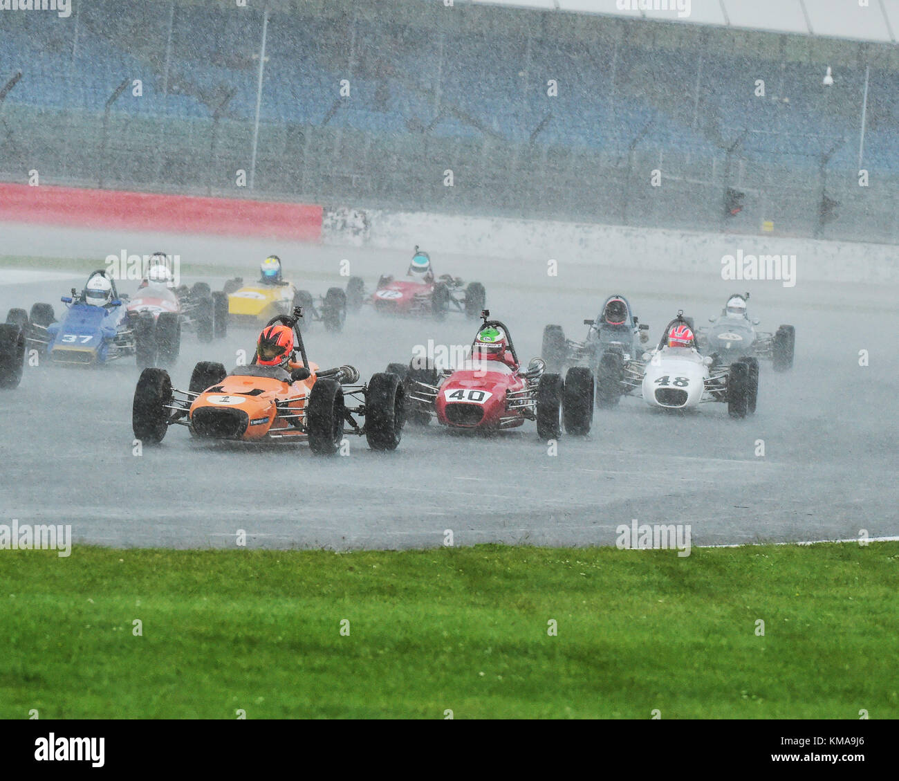 Callum Grant, Merlyn Mk20A, At touch moist at Silverstone this afternoon, HSCC, Silverstone International Trophy, - Stock Image