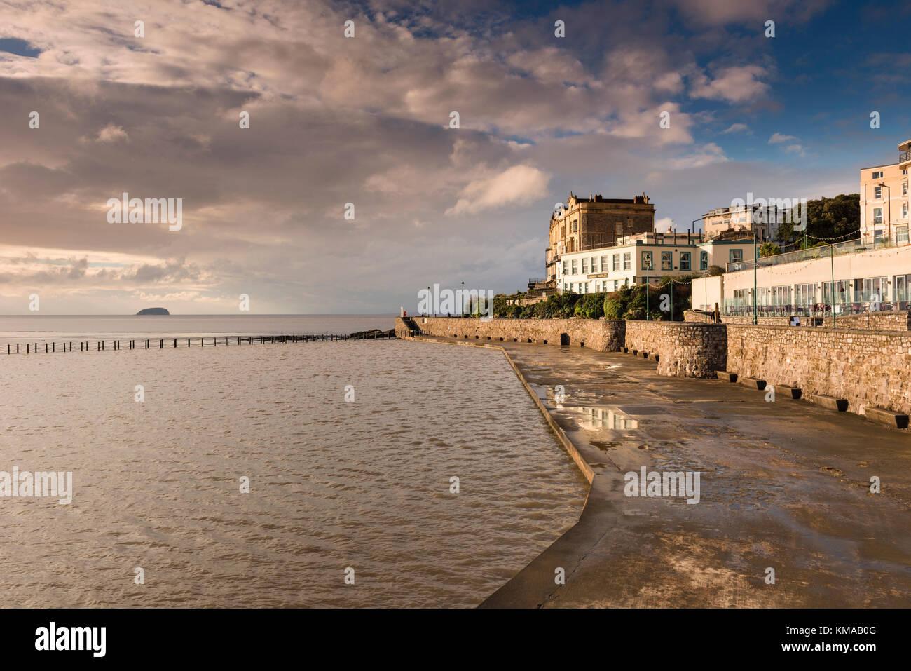 Marine Lake, Weston super Mare, North Somerset, UK - Stock Image