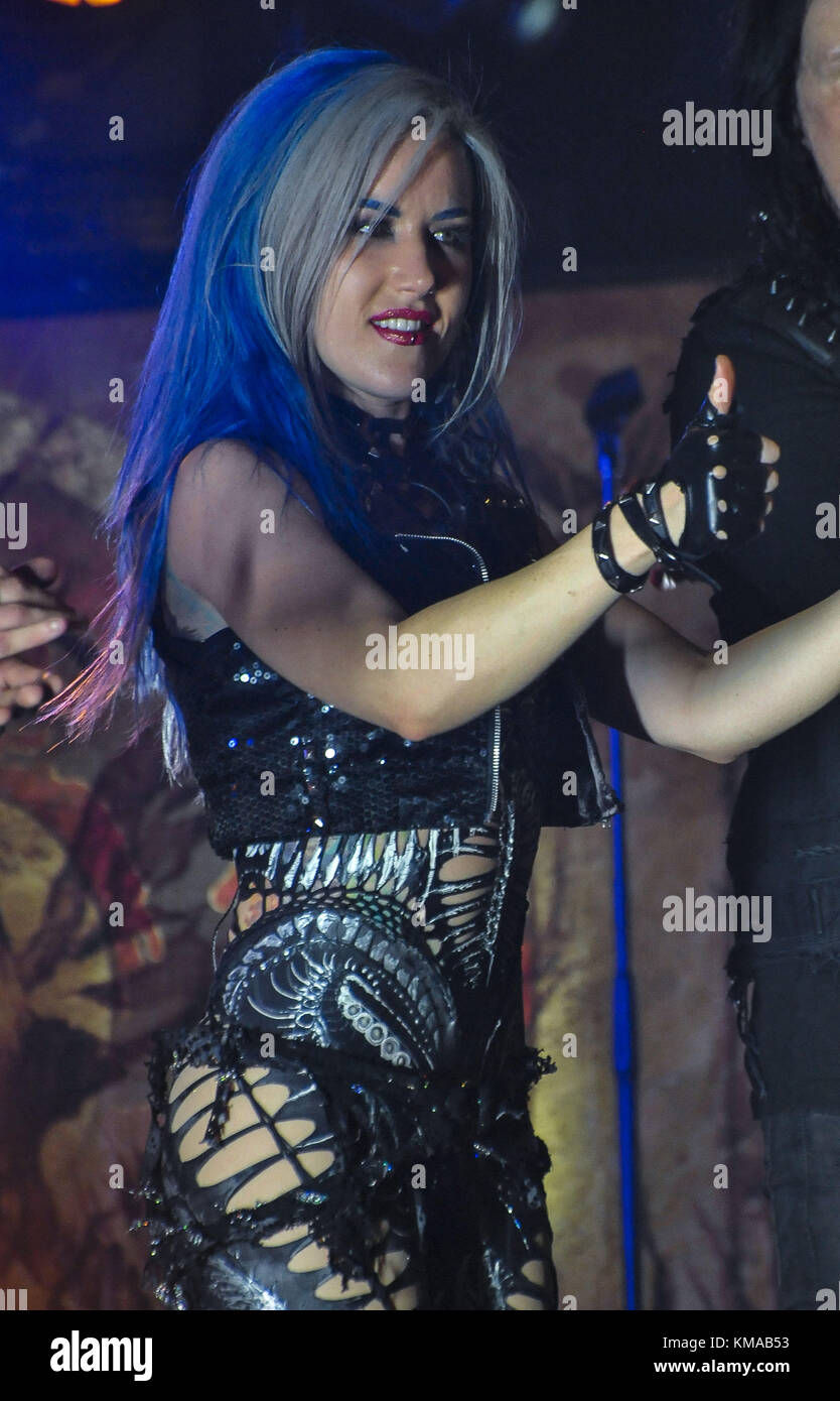 Arch Enemy Performs At The Playstation Theater In Nyc Featuring
