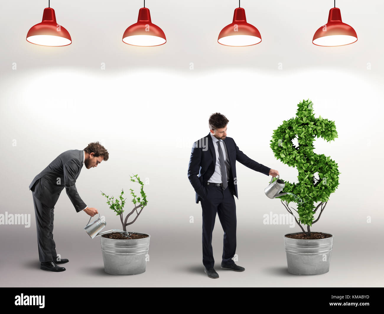 Ambition and skill of a businessman. 3D Rendering - Stock Image