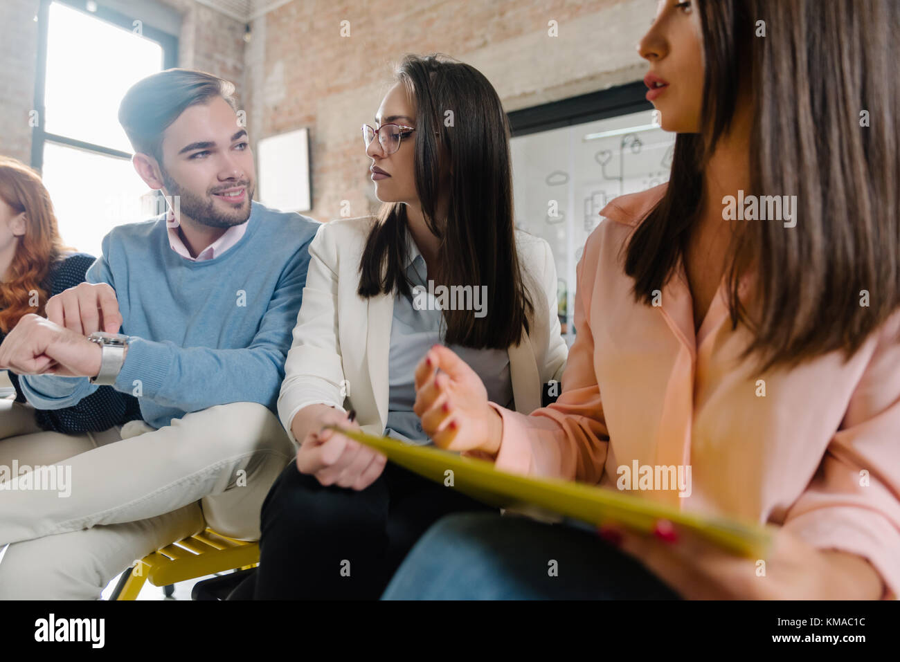 Time for the job interview - Stock Image