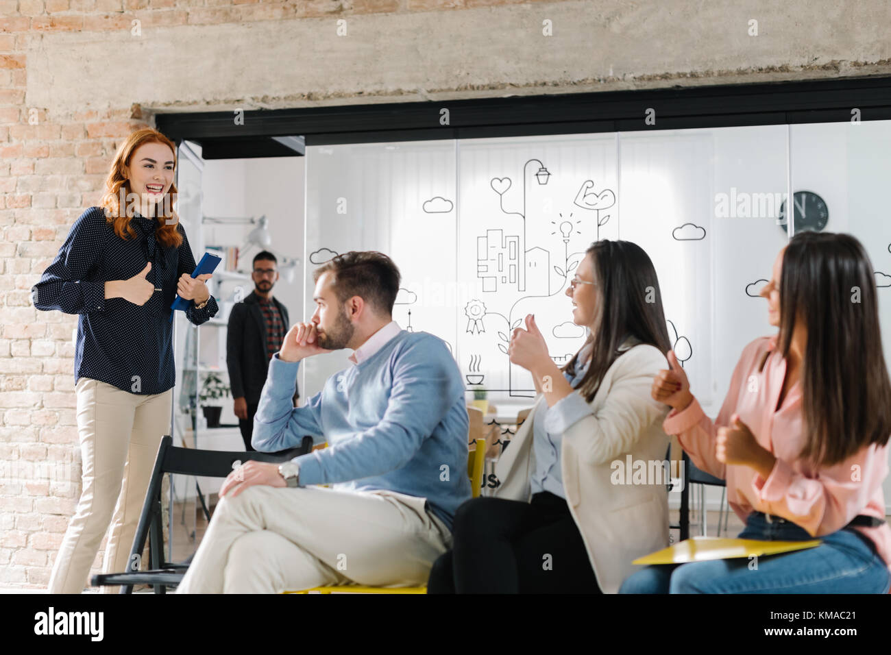 Good luck at a job interview - Stock Image