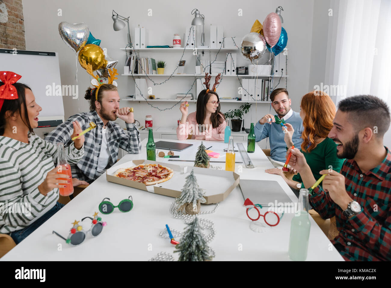 Partying at the office - Stock Image