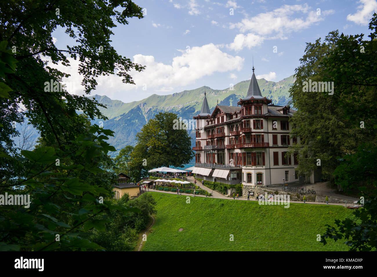 Grand Hotel Giessbach, Switzerland Stock Photo