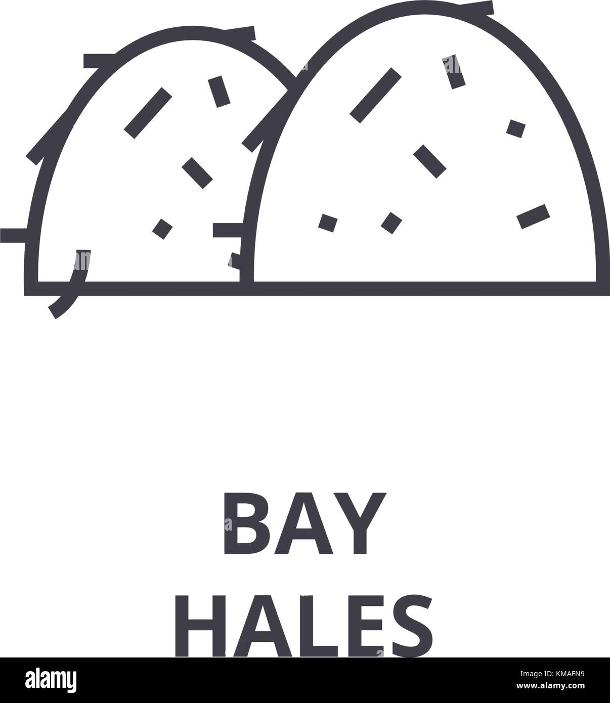 bay hales line icon, outline sign, linear symbol, vector, flat illustration - Stock Vector