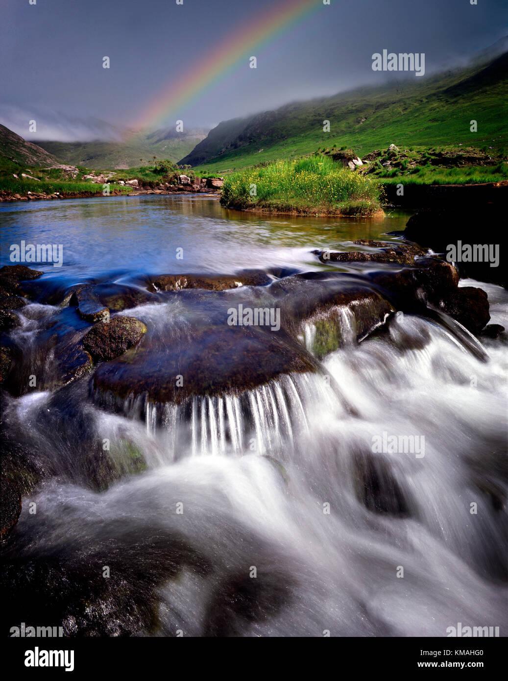 IE - CO.MAYO: Bundorragh River near Delphi Stock Photo
