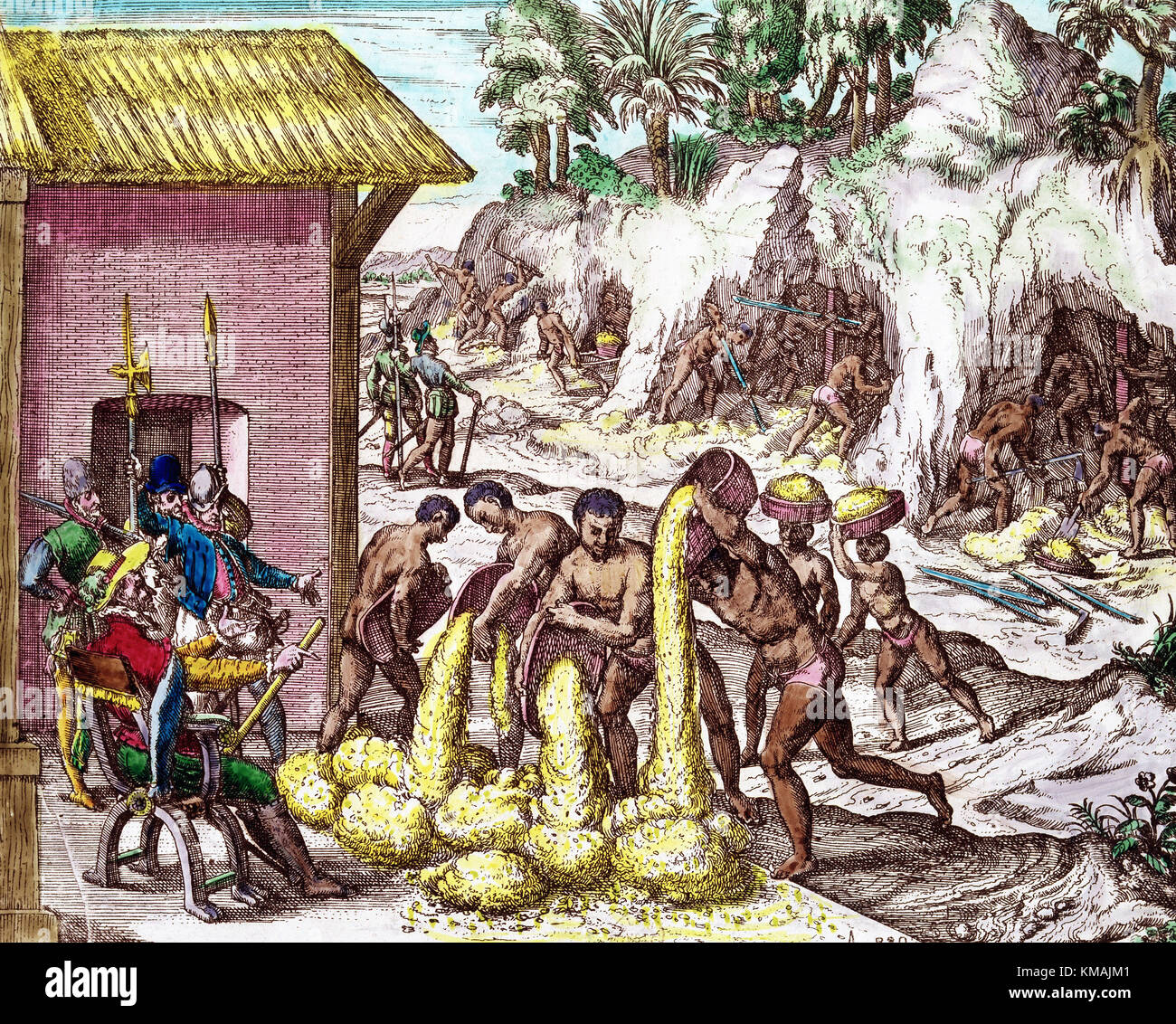 Gold And Silver Mining In Panama Mail: 16th Century Bry Stock Photos & 16th Century Bry Stock