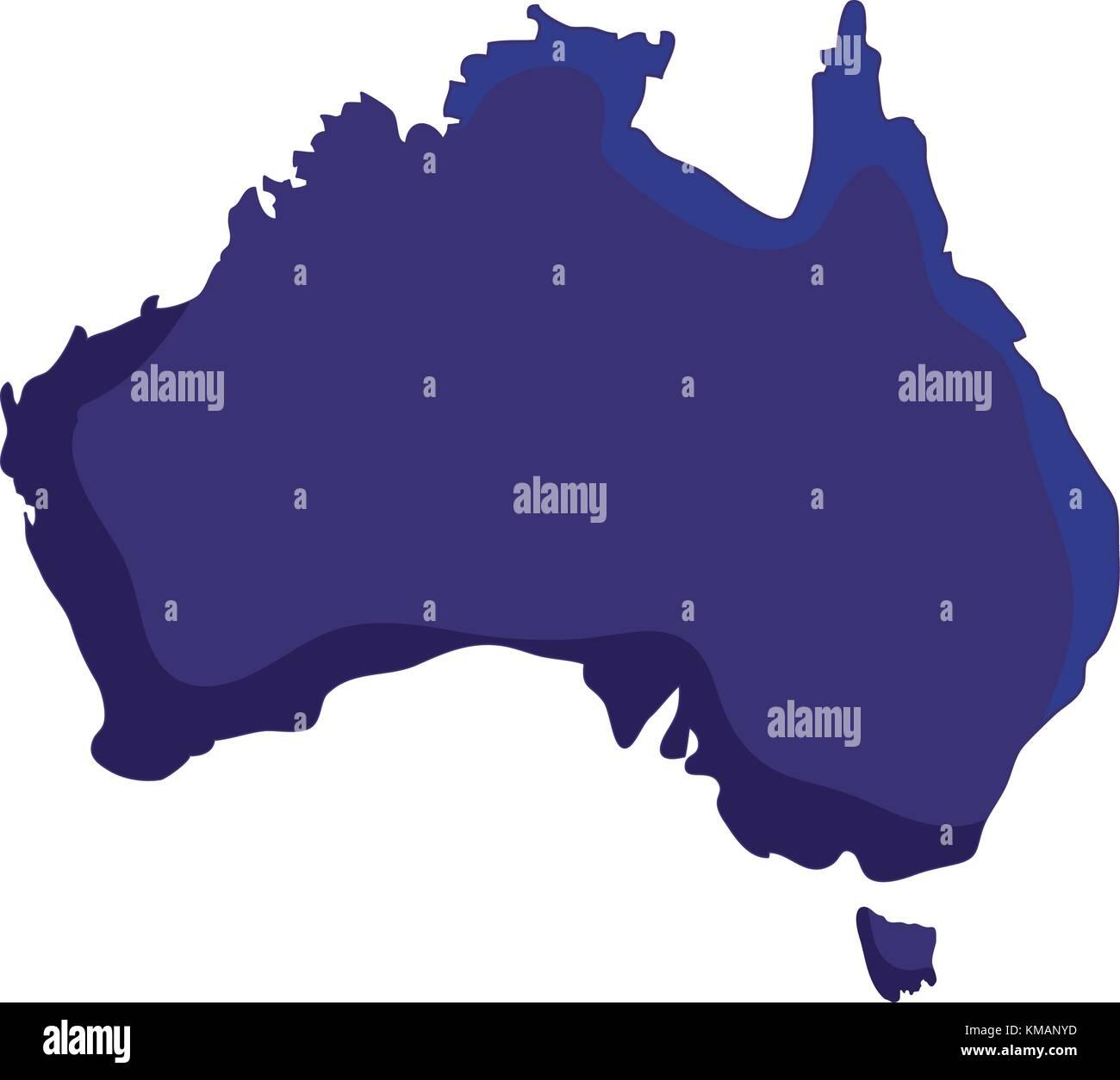 Australia Country Map.Australia Country Map Icon Stock Vector Art Illustration Vector