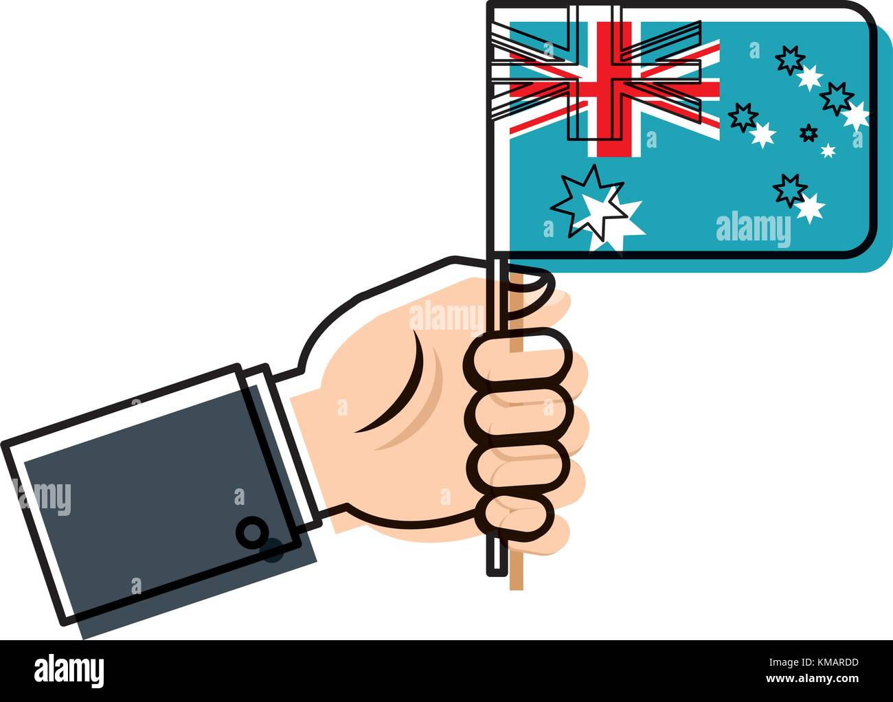 australia flag icon image - Stock Image
