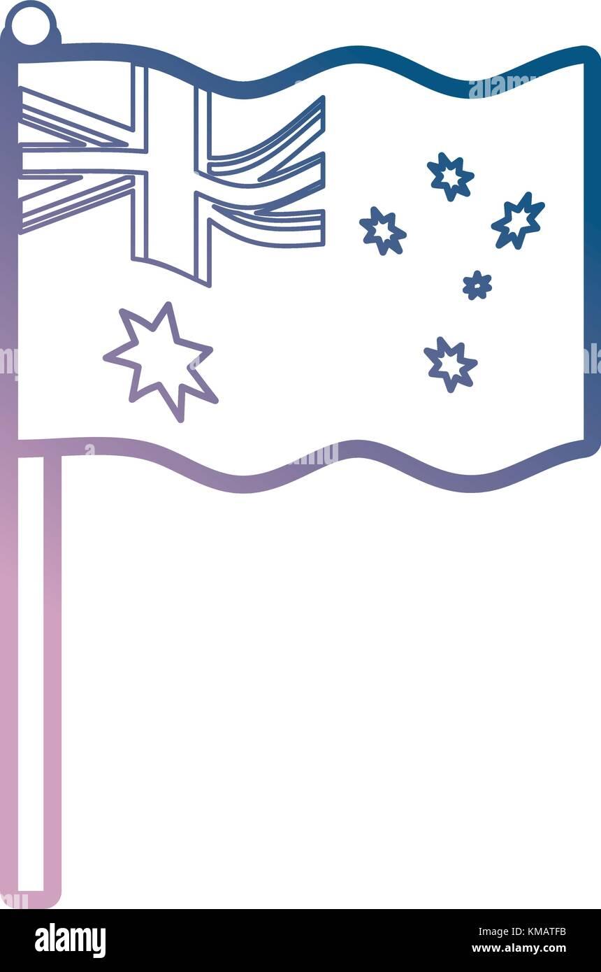 australia flag icon image - Stock Vector