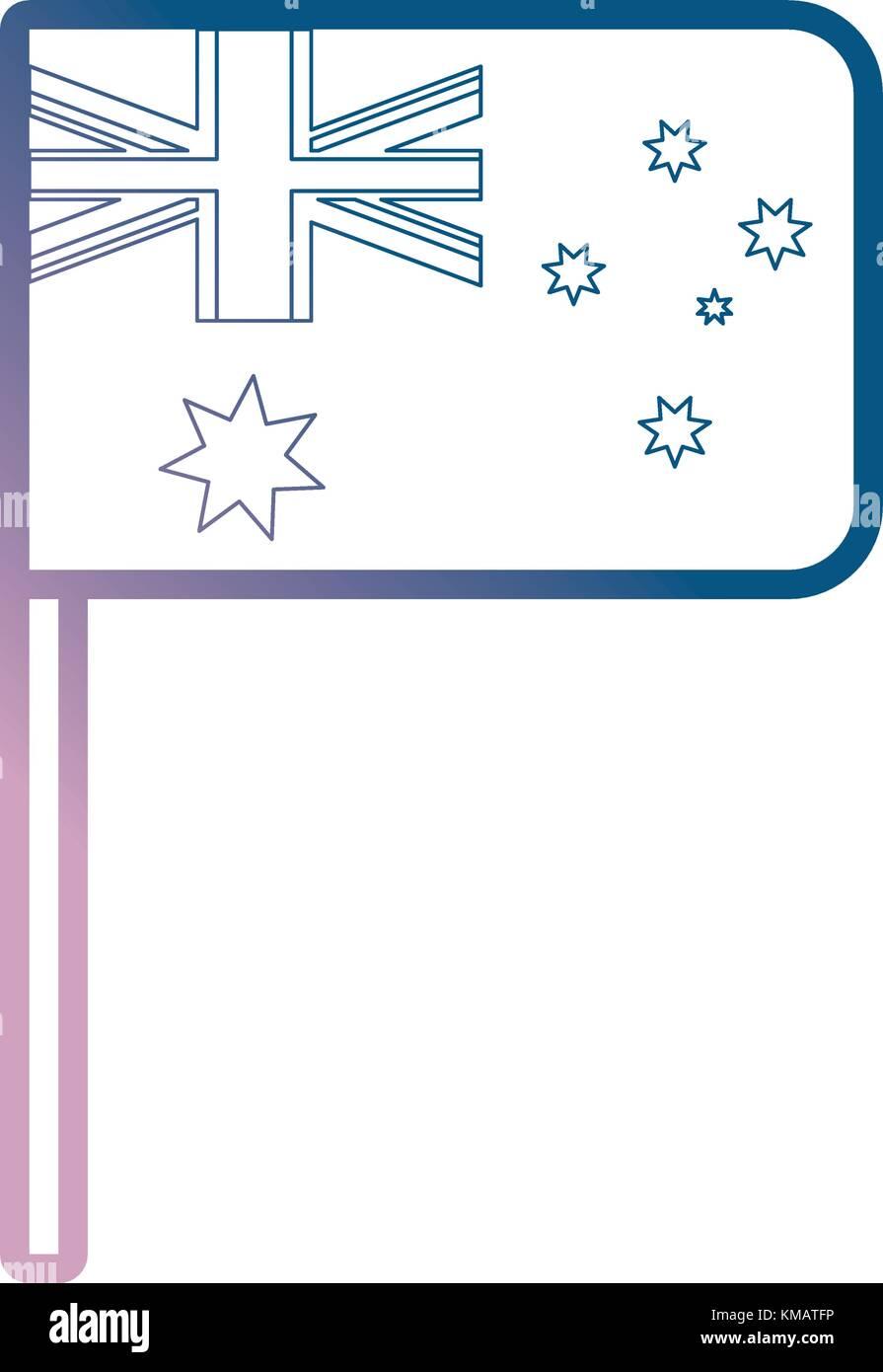 australia flag design - Stock Vector