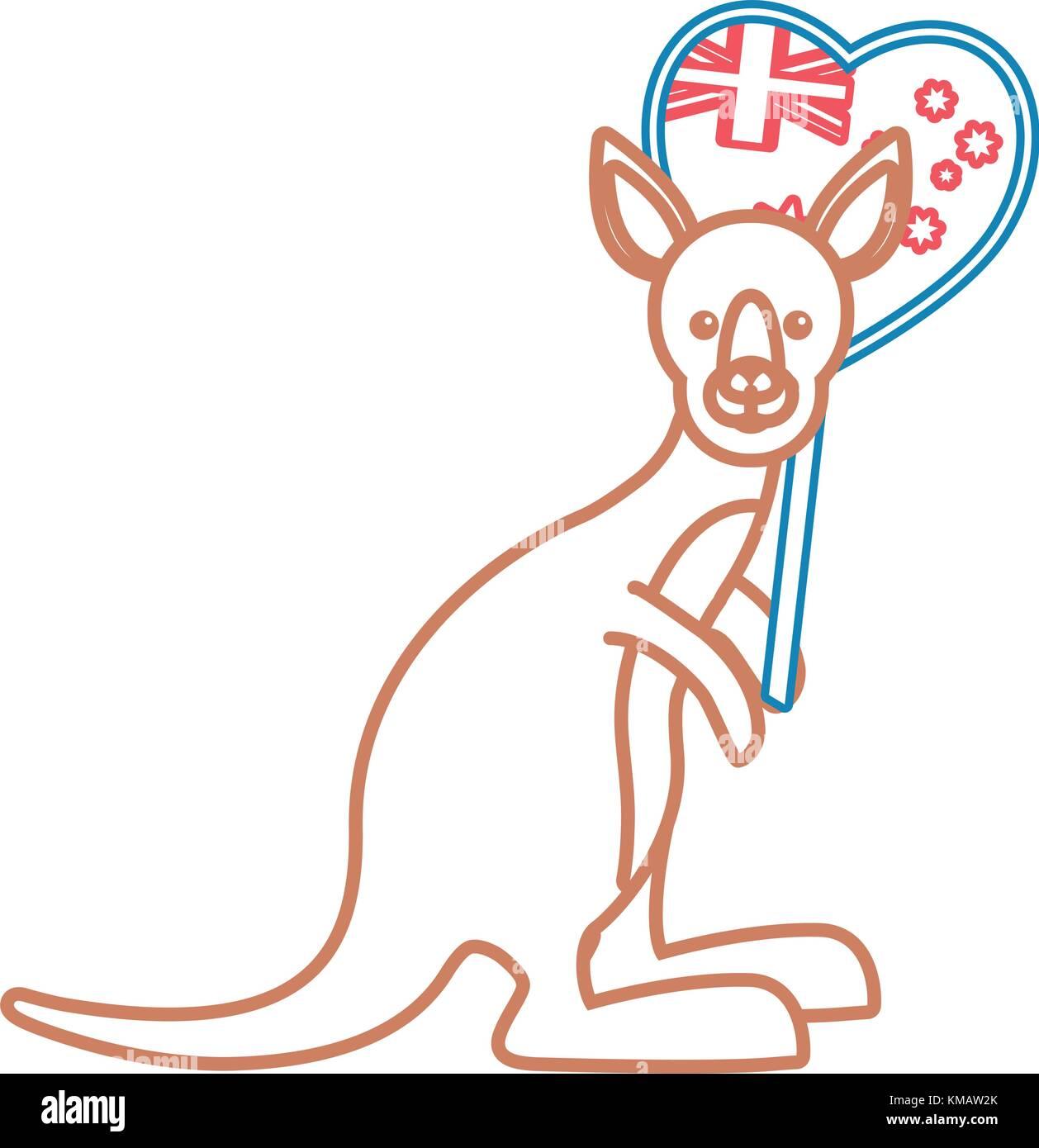 cartoon kangaroo design  - Stock Vector
