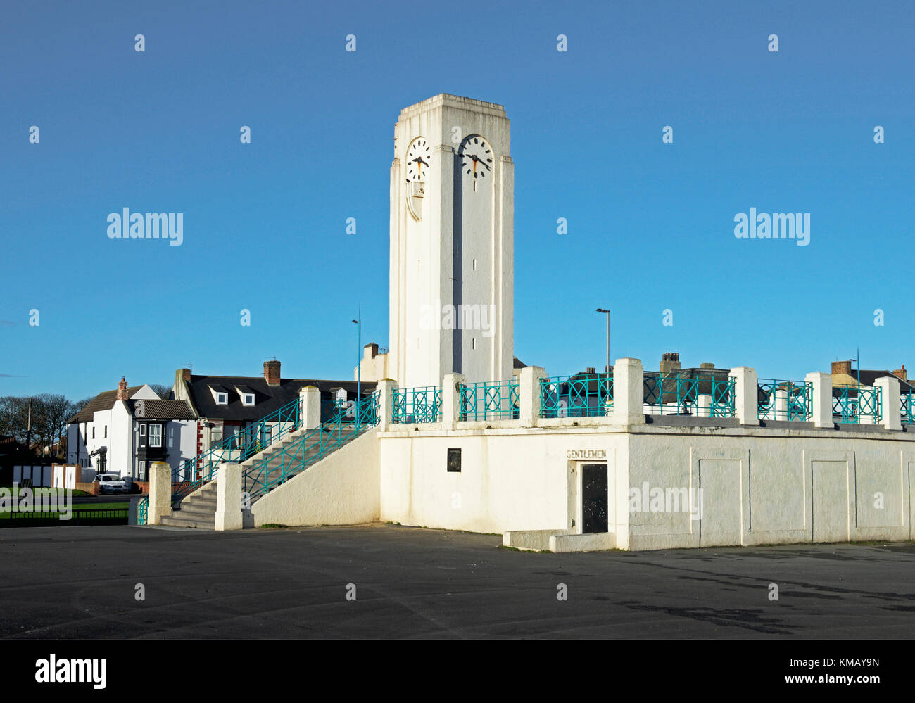 The Clock Tower, Seaton Carew, County Durham, England UK - Stock Image