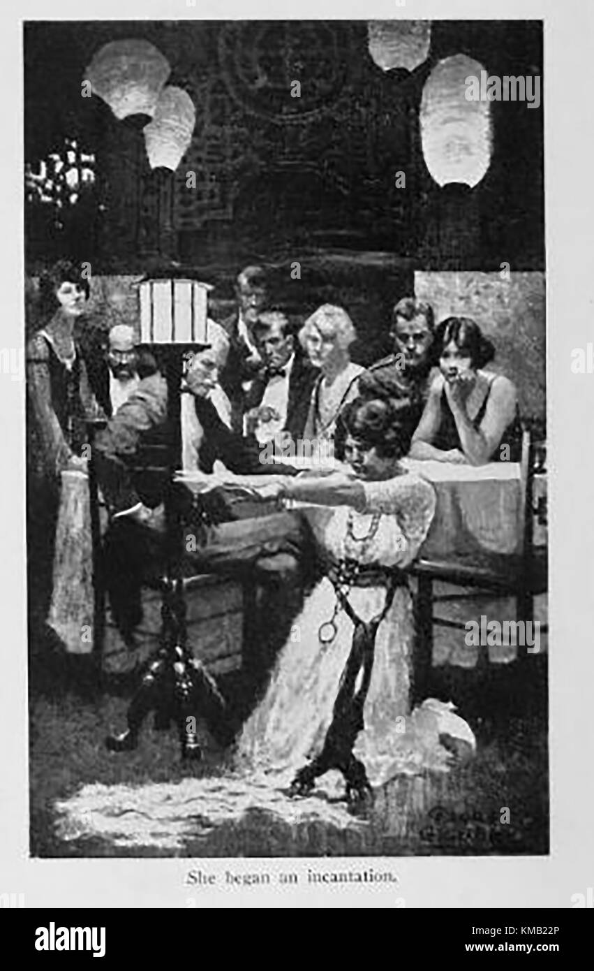 Victorian pastimes - Holding a seance - Stock Image
