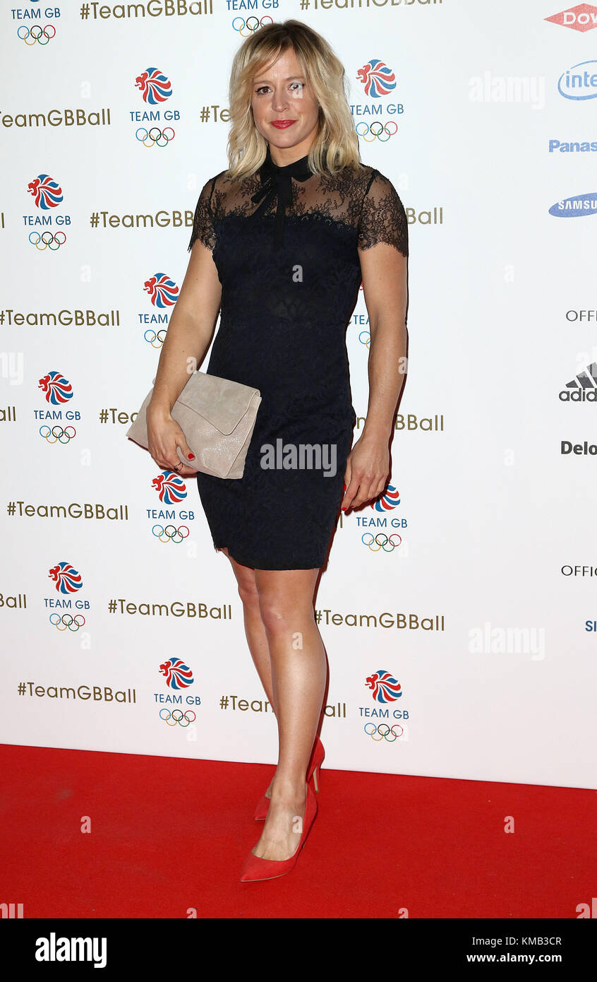 Nov 01, 2017 - Jenny Jones attending Team GB Ball 2017, Victoria and Albert Museum in London, England, UK - Stock Image
